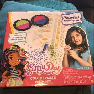 Sunny Day Color Splash Hair Flair Activity Kit for